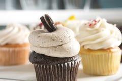 Chocolate Cupcake with Oreo Cookie Royalty Free Stock Photos