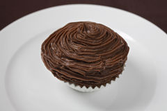 Chocolate Cupcake On Plate Stock Photo