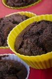 Chocolate cupcake in a silikon case Stock Photo