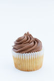Chocolate Cupcake And Swirly Frosting Royalty Free Stock Image
