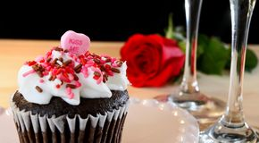 Chocolate cupcake valentine Stock Photo