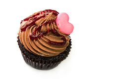 Chocolate cupcake ,Valentine cupcake Stock Images