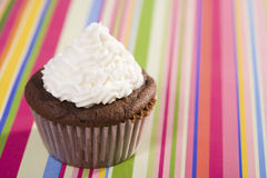Chocolate Cupcake with Vanilla Icing Royalty Free Stock Image
