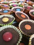 Chocolate cupcakes. Colorful seasonal sweets Royalty Free Stock Photography