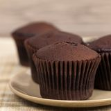 Chocolate Cupcakes Stock Photos