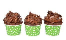 Chocolate cupcakes Stock Photography