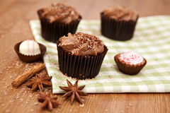 Chocolate cupcakes Royalty Free Stock Photography