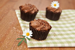 Chocolate cupcakes Royalty Free Stock Image