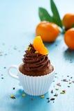 Chocolate cupcakes with orange Royalty Free Stock Photo
