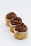 Chocolate Cupcakes In A Row Stock Photography