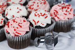 Chocolate Cupcakes Sprinkles Royalty Free Stock Photography
