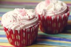 Chocolate cupcakes sprinkles stock image