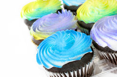 Chocolate Cupcakes with Swirled Frosting Royalty Free Stock Photo