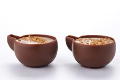 Chocolate cups Stock Photos