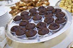 Chocolate cups Royalty Free Stock Photos