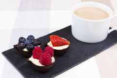 Chocolate cups Royalty Free Stock Images