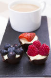 Chocolate cups Royalty Free Stock Image