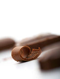 Chocolate curl Stock Photos