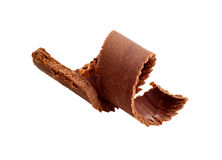Chocolate curl. Isolated on white Royalty Free Stock Photography