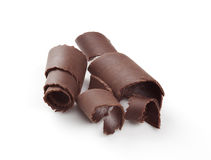 Chocolate curls royalty free stock photos