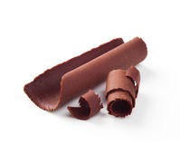 Chocolate curls Royalty Free Stock Image