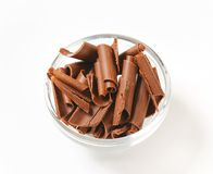 Chocolate curls Royalty Free Stock Images