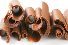 Chocolate curls Stock Photography