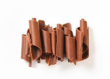 Chocolate curls Royalty Free Stock Photography