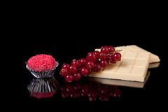 Chocolate and currants - brigadier of red-fruits Stock Photo