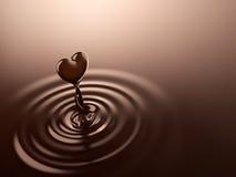 Chocolate da forma do coração Imagens de Stock