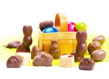 Chocolate da Páscoa, coelhinhos da Páscoa Fotografia de Stock Royalty Free
