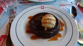 Chocolate da sobremesa Imagem de Stock Royalty Free