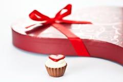 Chocolate dado fôrma coração Fotografia de Stock
