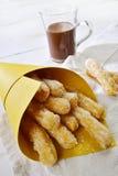 Chocolate de Churros co Foto de archivo libre de regalías