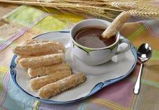 Chocolate de Churros co Imagen de archivo