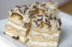 Chocolate de creme do bolo Imagens de Stock