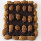 Chocolate de la almendra Imagen de archivo