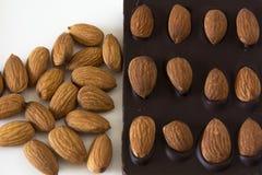 Chocolate de la almendra Foto de archivo