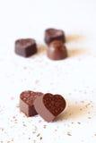 Chocolate de la dimensión de una variable del corazón imágenes de archivo libres de regalías