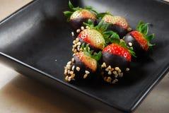 Chocolate de la fresa Foto de archivo libre de regalías