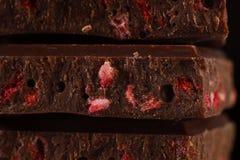 Chocolate de la fresa Fotos de archivo
