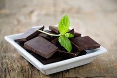 Chocolate de la menta Imagen de archivo