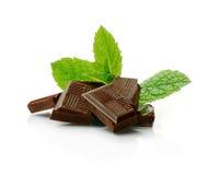 Chocolate de la menta Imagen de archivo libre de regalías