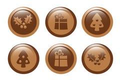 Chocolate de la Navidad Fotografía de archivo