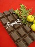 Chocolate de la Navidad Fotos de archivo