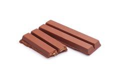 Chocolate de la oblea Fotografía de archivo libre de regalías