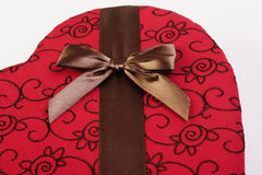 Chocolate de la tarjeta del día de San Valentín Imagen de archivo libre de regalías