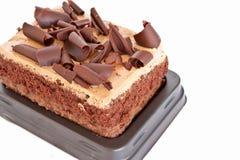 Chocolate de la torta aislado Foto de archivo