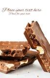 Chocolate de leite com um lugar para o texto Imagem de Stock