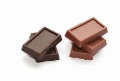 Chocolate de leite e chocolate escuro Imagens de Stock Royalty Free